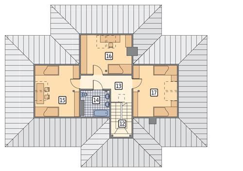Rzut poddasza POW. 92,8 m²