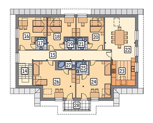 Rzut poddasza POW. 177,7 m²